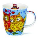 Dunoon-medium-beker-mok-nevis-OWLS-LIGHT-BLUE-HEARTS-verliefd-stelletje-uilen-hartjes-480ml