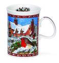 Dunoon-kerst-verzamel-beker-2014-CHRISTMAS-MUG-Devon-Robin-Roodborstje-Design-Sue Scullard-280ml.