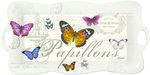 Nuova-dienblad-langwerpig-m/greep-Papillons-vlinders-romantisch