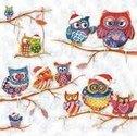 Ambiente-lunch-servet-OWLS-WINTERLAND-winter-uiltjes-Kerstmutsjes