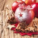 Ambiente-papieren-kerst-servetten-STAR-APPLE-Ster-appel-kaneelstokjes-33x33cm-Lunch-diner