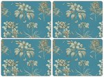 Sanderson-Pimpernel-placemats-set/4-ETCHINGS & ROSES-blue-teal-turqouise