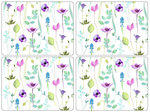 Pimpernel-placemats-set/4-watergarden-white-aquarel-bloemen
