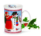 Dunoon-fine-bone-china-kerstbeker-2012-CHRISTMAS-MUG-Devon-Santa-sneeuwpop-Sue-Scullard-inhoud-280ml.