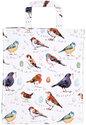 Ulster-Weavers-Lak-PVC-boodschappentas-Gusset-Birdsong-vogels-Medium-gevoerd-binnenvak-rits