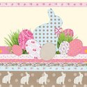 Ambiente-cocktail-papieren-servetten-TOUCH-OF-EASTER-voorjaar-lente-konijntje-Paaseieren-cream-taupe