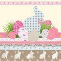 Ambiente-papieren-servet-lunch-pasen-paashaas-eieren-cream-33x33cm