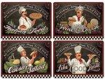 Pimpernel-placemats-set/4-CHEF'S-SPECIALS-kok-specialiteiten-Italian-Pasta-wine-cheese-salad