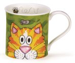 DUNOON-Beker-PEEPERS-cat-Bute-fine-bone-China-Jane-Brookshaw-Animal-kat