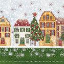 papieren-servetten-Kerststad-kerstboom-huis-huizen-lunch-diner-33x33cm