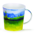 Dunoon-lomond-beker-mok-HORIZON-green-geel-groen-blauw-aquarel
