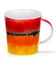Dunoon-lomond-beker-mok-HORIZON-RED-geel-oranje-rood-aquarel