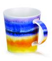 Dunoon-lomond-beker-mok-HORIZON-YELLOW-geel-oranje-blauw-aquarel