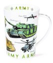 Dunoon-fine-bone-China-mug-beker-mok-Argyll-ARMED-FORCES-ARMY-Landmacht-Challenger-Apache-tanks-WW1-AS90-landvoertuigen-Foxhoun