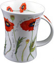 Dunoon-fine bone China-beker-mok-Richard-COTTAGE-POPPY-Klaproos-landelijk