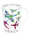 Dunoon-fine-bone-China-XL-mug-beker-mok-Argyll-ROYAL-AIR-FORCES-Luchtmacht-UK-Red-Arrows-Spitfire-Vulcan-Lancaster-Harrier-Typh