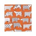 Ulster-Weavers-papieren-servetten-CURIOUS-COWS-koeien-ORANJE-33x33cm