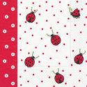 Paper+Design-papieren-servet-Lieveheersbeestjes-rood-stip