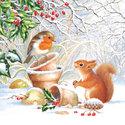 Ambiente-papieren-servetten-WINTER-PICTURE-Eekhoorn-roodborstje-bloempotjes-25x25cm