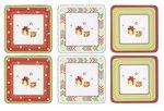 Onderzetters-Pimpernel-Xmas-Christmas-Jubilee-Kerstpakjes-set/6-rood-groen