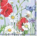 papieren-servetten-Nouveau-bloemen-FLOWERFIELD-blue-Margrieten-Klaprozen-Korenbloemen-33x33cm