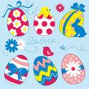 Papieren-servetten-Pasen-EASTER-EGGS-Collection-Blue-gekleurde-kippen-eieren-blauw