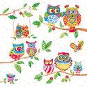 Ambiente-lunch-servet-OWLS-SUMMERLAND-zomer-familie-uilen-takken-bladeren