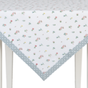 tafelkleed-zomer-bloemetjes-boeketjes-rand-hartjes-100x100cm-Clayre & Eef