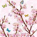 Ambiente-papieren-servetten-BLOSSOM ROSE-25x25cm-Bloesemtakken-roze
