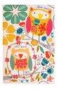 Ulster-Weavers-katoenen-theedoek-TWIT TWOO-bedrukt-geel-uilen-Tea towel