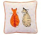 Kussen-Ulster Weavers-CATS IN WAITING-2 zijdig-katten-oranje