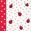 Paper+Design-papieren-servetten-LADYBIRDS AND DOTS-lieverheersbeestjes-rood-stippen-33x33cm
