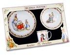 Dejeuner-kinder-ontbijtset-PETER RABBIT-Flower band-konijn-Beatrix-Potter-PR-Park-3dlg-fruhstuckset-