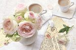 Dunne-placemats-PP-polypropyleen-ROMANTIC BREAK-roze-ROSE-roos-vaas-rozen-45x30cm-Romantische-onderbreking