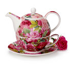Dunoon-Tea for one-bloemen-CHARTWELL-roos-pioenroos-4delig-