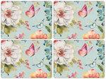 Pimpernel-placemats-kunststof-kurk-set/4-COLORFUL BREEZE-Tropische-bloemen-vlinders-butterflies-40.5x30.5cm