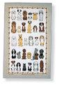 Ulster Weavers-linnen-theedoek-DOGS ARRIVED-Honden-grijze-rand