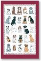 Ulster Weavers-linnen-theedoek-DOGS GALORE-Hondenrassen-rood-rand