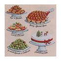 Ulster Weavers-papieren-servetten-BRITISH ISLES-Christmas-Feast-Kerstmaaltijd-gebak-taart-pudding-lunch-diner-