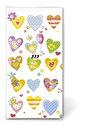 Papieren-zakdoekjes-tissue-Hanky-COLOURFUL HEARTS-LOVE-gekleurde-hartjes-variatie-ballon-bloem-vogel-vlinder