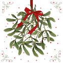 Papieren-servetten-Ambiente-p/20-Kerst-MISTLETOE-Kersttak-rode-strik-25x25cm-32510575