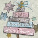 Papieren-servetten-Paper+Design-p/20-Kerst-CHRISTMAS WISHES-Kerstwensen-Winter-wegwijzer-kerstboom-sterren-blue-roze-grijs-lunc