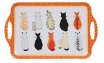 dienblad-tray-handgreep-Large-40x30cm-CATS IN WAITING-NEW-wachtende-katten-nieuw-stippen