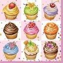Ambiente-papieren-lunch-diner-servetten-33x33cm-cupcakes-pink-roze