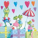 Colourful-Life-papieren-servet-kinderen-kikkers-party-muziek