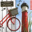 papieren-servet-vuurtoren-fiets-strand-zee-strand-vakantie-eiland-33x33cm