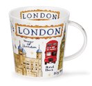 DUNOON-Cairngorm-XL-beker-mok-LONDON-items-Big Ben-bus-tower-palace-phone-box-480ml