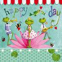 Lunch-servet-kikker-muziek-froggy-tunes