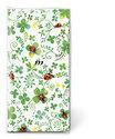 Papieren-zakdoekjes-tissue-hanky-LADYBUGS ON CLOVER-Lieveheersbeestjes-blaadjes-groen-klavertje-vier