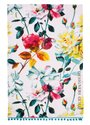 Ulster-Weavers-theedoek-Tea Towel-cotton-Designers-Guild-COUTURE-ROSE-turquoise-bolletjes-rand